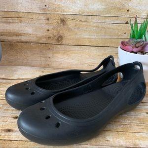 Crocs Kadee black ballet flat 10 slip on sandal